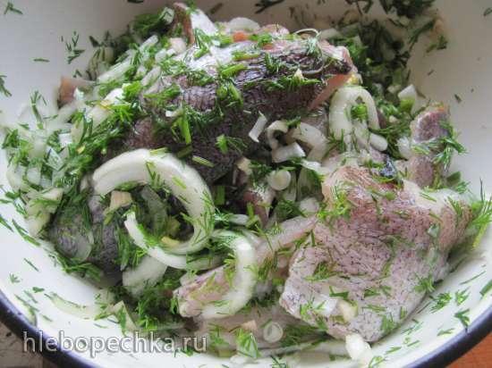 Рыба с оливками в духовке