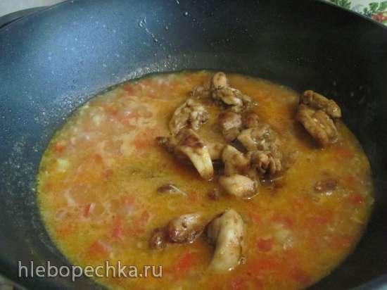 Арахисовая курица с овощами