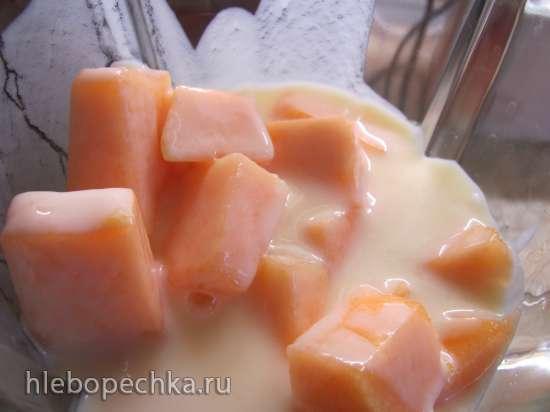 Торт муссовый «Дыня-йогурт» без выпечки