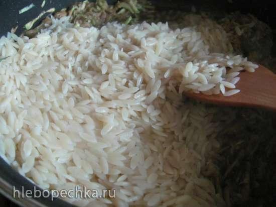 Паста орзо с соусом из кабачка
