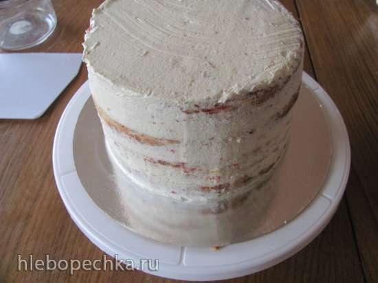 Торт на сливках с творожным кремом Конфетти
