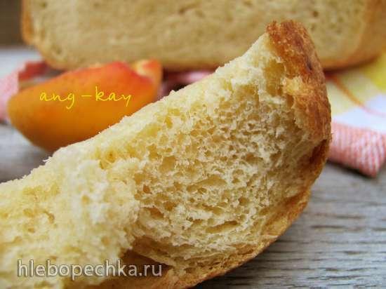 Хлеб на фруктовых дрожжах с абрикосовым пюре