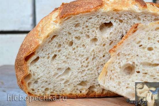 Хлеб на жидких дрожжах со смальцем и сывороткой