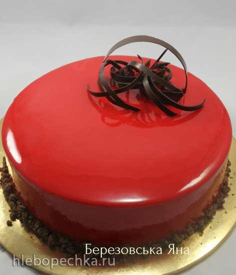 Торт залит гелем фото