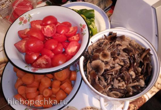 Грибная икра с овощами