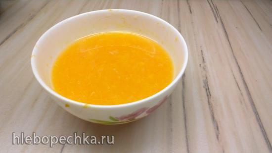 Диетический мандариновый курд на глюкоманнане и ксантане