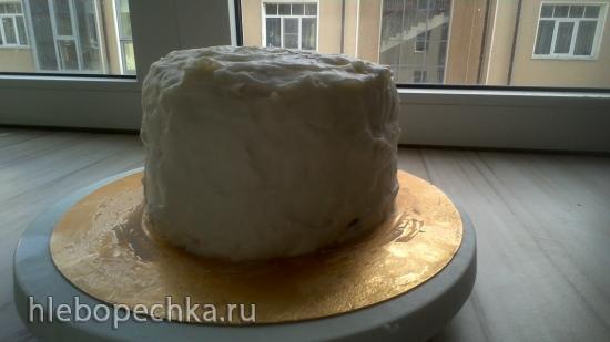 Торт на бескрахмальных коржах сибаритский Клубнично-шоколадная феерия
