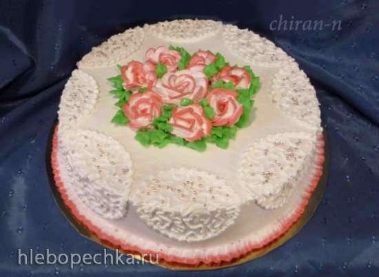 Торт к крещению из заварного крема фото