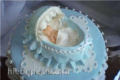 Детские торты (с мастичными детками из молдов)