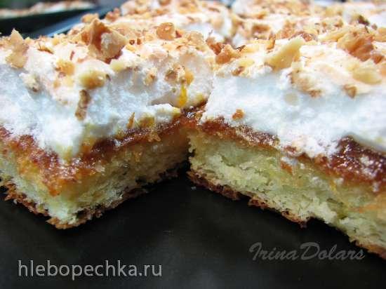 Пирог «Дамский каприз» с абрикосовым конфитюром (Damenkaprizen)