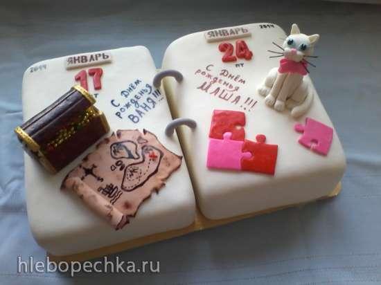 торт для двоих именинников фото
