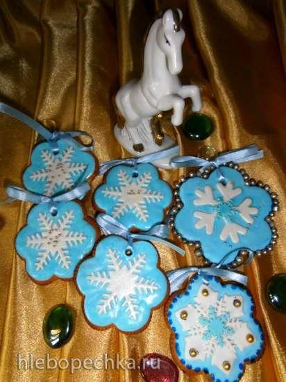 Украшение пряников и печенья мастикой (имитация айсинга)