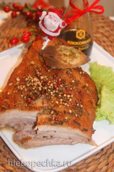 Праздничная свинина с хрустящей корочкой