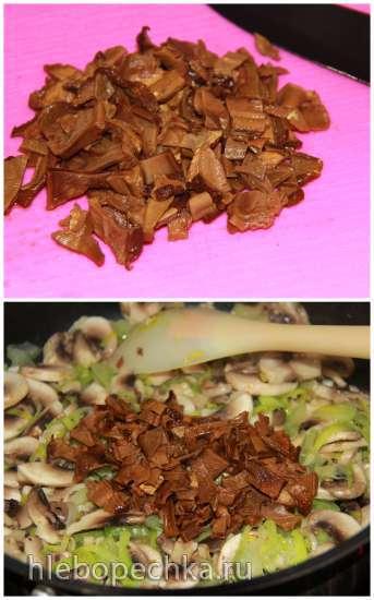Рулет из карбонада с грибами
