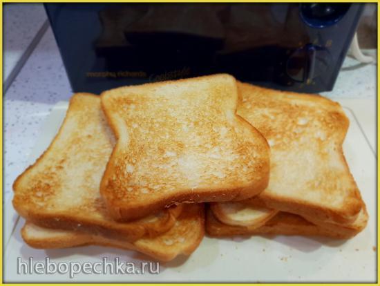 Закуска на тостах Острый язычок