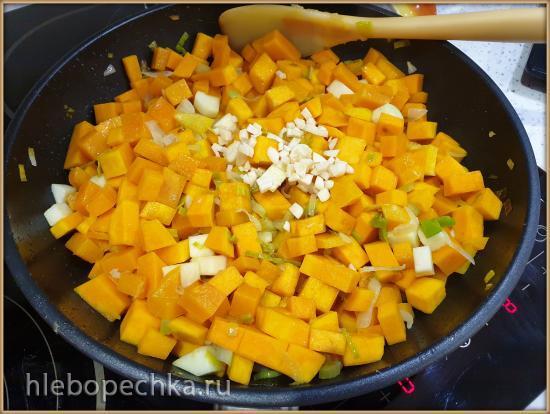 Суп-пюре 6 овощей с чечевицей и цыплёнком-тапака