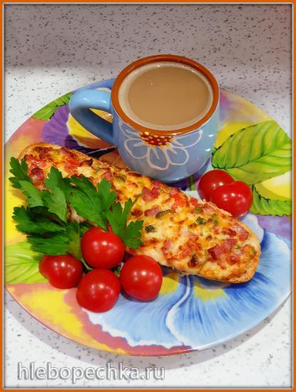 Лодочки из багета - горячий завтрак (аэрофритюрница Philips)