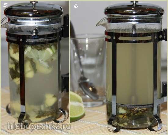 Зеленый чай с имбирем и лаймом Источник силы