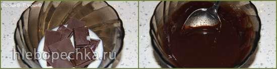 Десерт-мороженое с фисташками и шоколадно-ромовой прослойкой (мороженица Brand 3812)