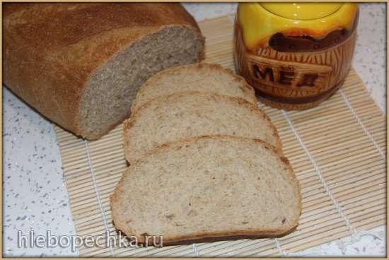 Хлеб Медовый пшеничный на сыворотке (по мотивам Медовый хлеб на сыворотке от Omela)