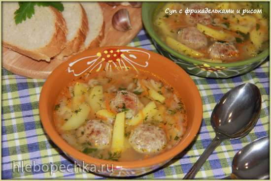 Суп с фрикадельками и рисом (мультиварка Brand 701)