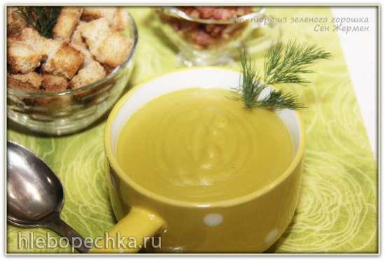 Суп–пюре из зеленого горошка Сен Жермен – Potage Puree St. Germain (блендер–суповарка Vitek VT-2620)