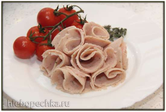 Колбаса из куриной грудки с тимьяном (ветчинница Tescoma)
