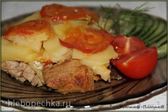 Свинина и картофель по-французски (мультиварка-скороварка Brand 6051)