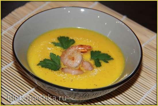 Суп–пюре из тыквы с креветками (блендер–суповарка Vitek VT-2620)