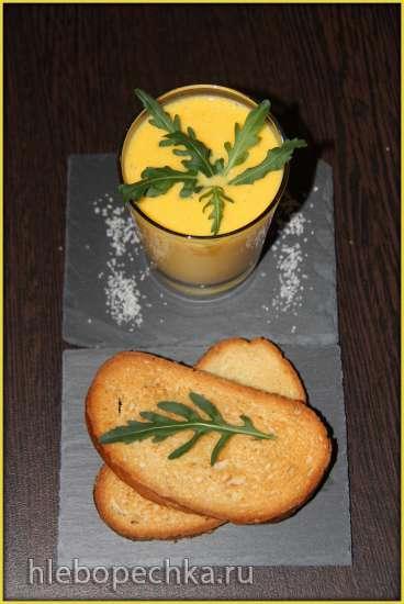 Суп-капучино из тыквы с тостами от Рустама Тангирова