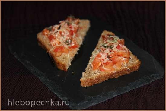Тапас (Tapas) - закуска с креветками и томатно-чесночными тостами