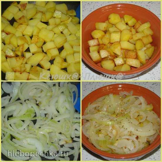 Картофель с луком «Тушенка монастырская» (аэрогриль Brand 35128)