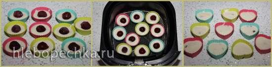Мини-кексики с вишней в мультипечи Philips HD9235