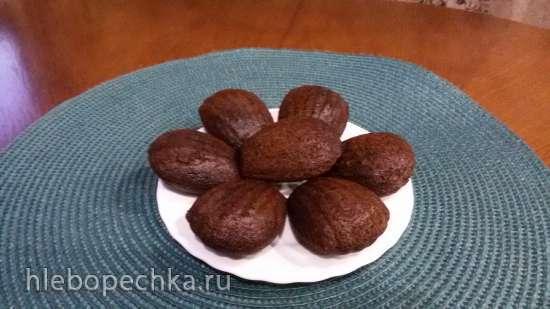 Шоколадно-апельсиновые мадлен  (Печенница «Мадлен» Princess 132404)