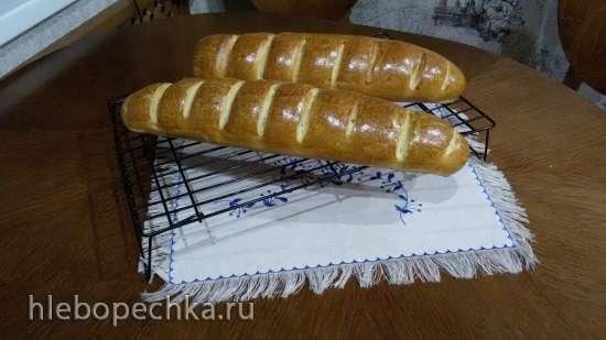 Как сформовать батон для выпечки в духовке
