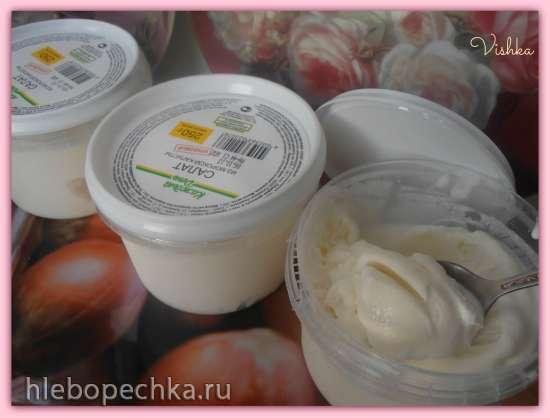 Сливочное-творожное мороженое на  кунжутном молоке ( мороженица Brand 3812)