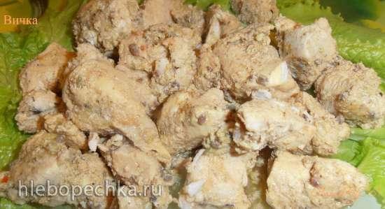 Курица в кефирно-ягодном соусе (мульти-скороварка Brand 6051)