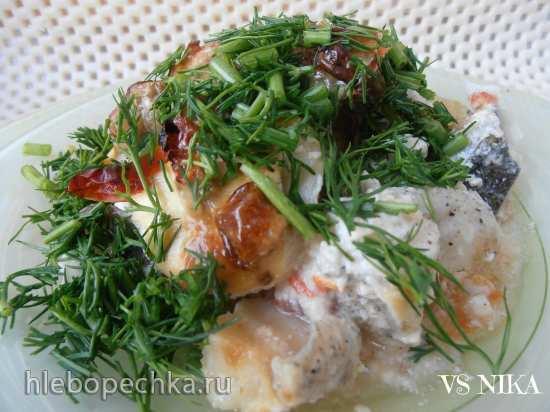 Рыба с овощами (аэрогриль Brand 35128)