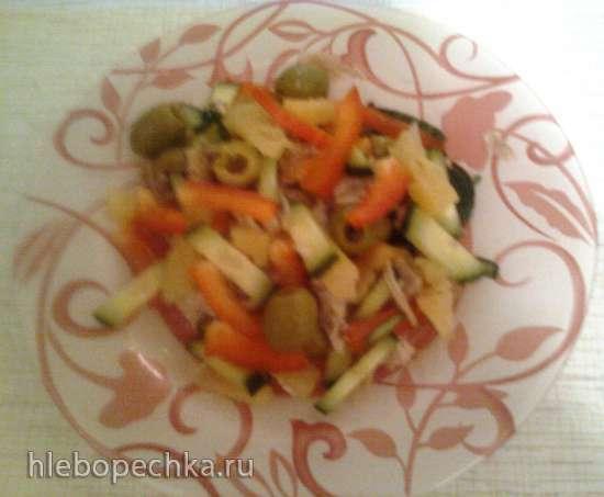 Курица с ананасом (салат) - вариации на тему