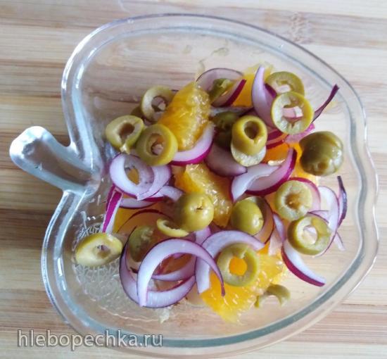 Испанский салат из апельсинов и трески - Ремохон