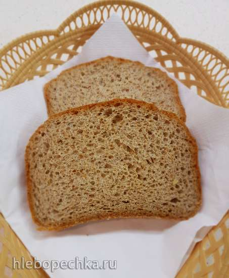 Дрожжевой хлеб с клейковиной и псиллиумом