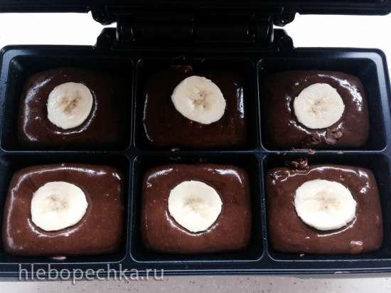 Апельсиново-шоколадные брауни с бананом (Брауни мейкер Tristar)