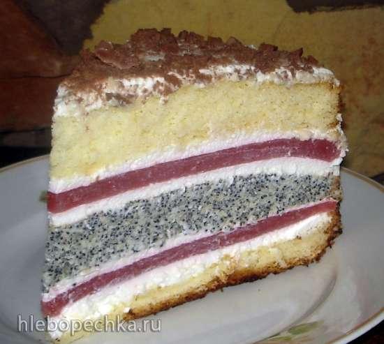 Торт «Клубнично-маковый поцелуй»