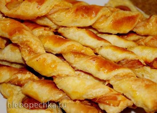 Твисти с сыром и беконом и сосиски в слоеном тесте от Лорейн Паскаль