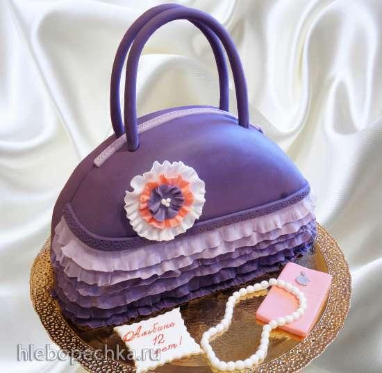 Торт сумочка фото