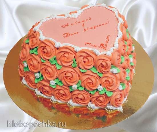 Украска детских тортов кремом фото