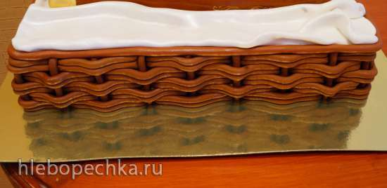 Торт Корзина. Псевдо-плетение (мастер класс)