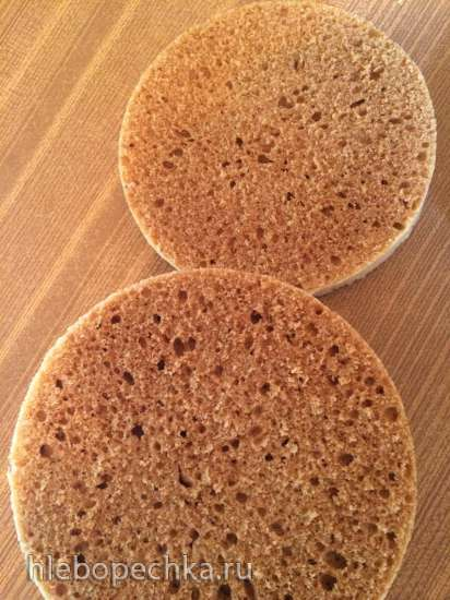 Медовый бисквит в микроволновке