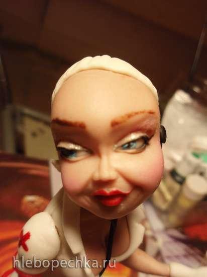 Фигурка из мастики «Гламурная медсестра» (мастер-класс)