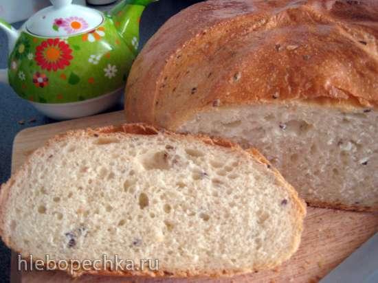Хлеб пшеничный «Бесхлопотный» с семенами льна и кунжута